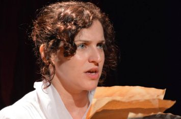 """Ashleigh as Mary Wollstonecraft in """"Mary, Mary"""" at the Camden Fringe 2016"""